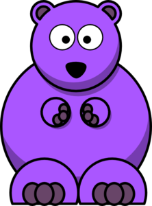 graphic royalty free library Clip art at clker. Gummy clipart purple bear