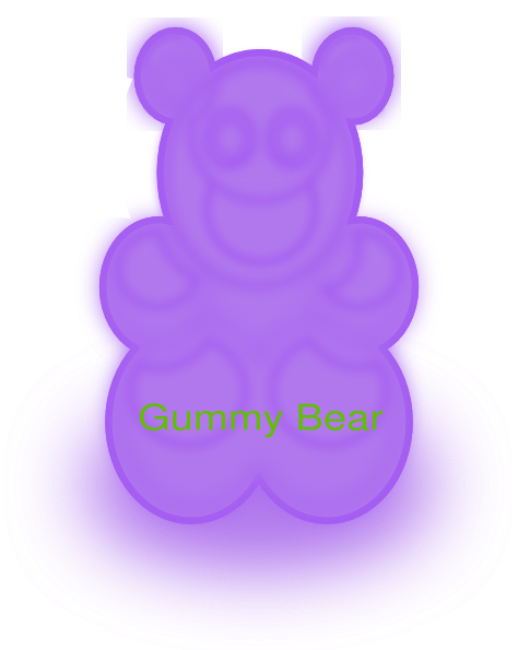 png free download Clip art at clker. Gummy clipart purple bear