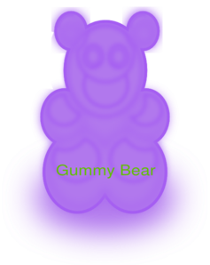royalty free stock Clip art at clker. Gummy clipart purple bear