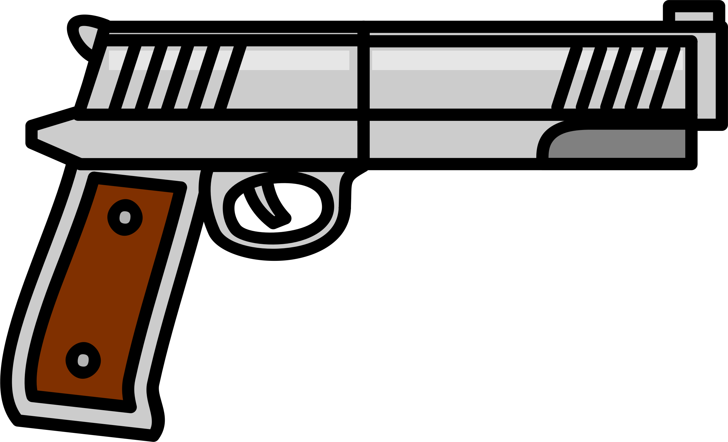 image black and white library Western pistol clipart. Gun big image png.