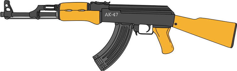 graphic royalty free Ak transparent png pictures. Guns clipart ak47