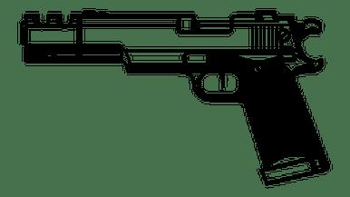 clip art freeuse stock Guide dogs and guns. Gun clipart amendment