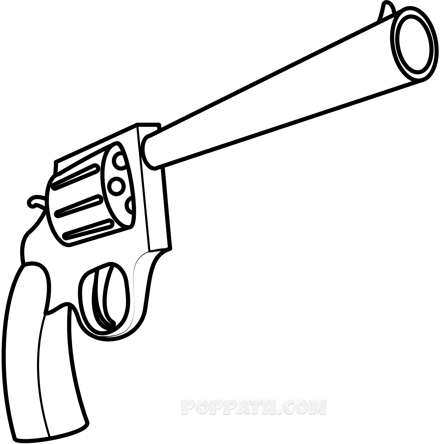 clip art library stock simple gun drawing
