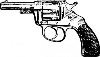graphic freeuse Gun clipart black and white. Free pistol download clip