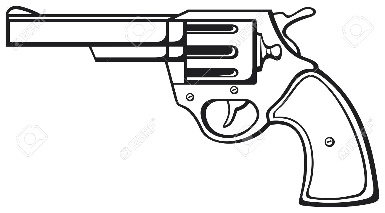 graphic black and white download Free download best . Gun clipart black and white