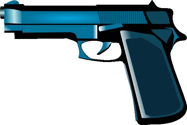 vector royalty free stock Gun clipart policeman. Pistol logo free on