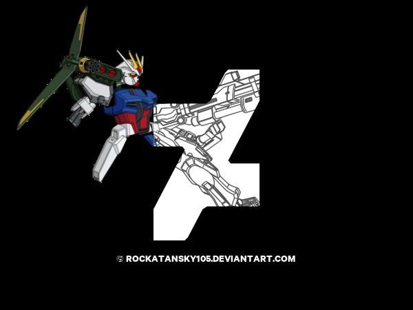 vector royalty free WIP Strike Gundam