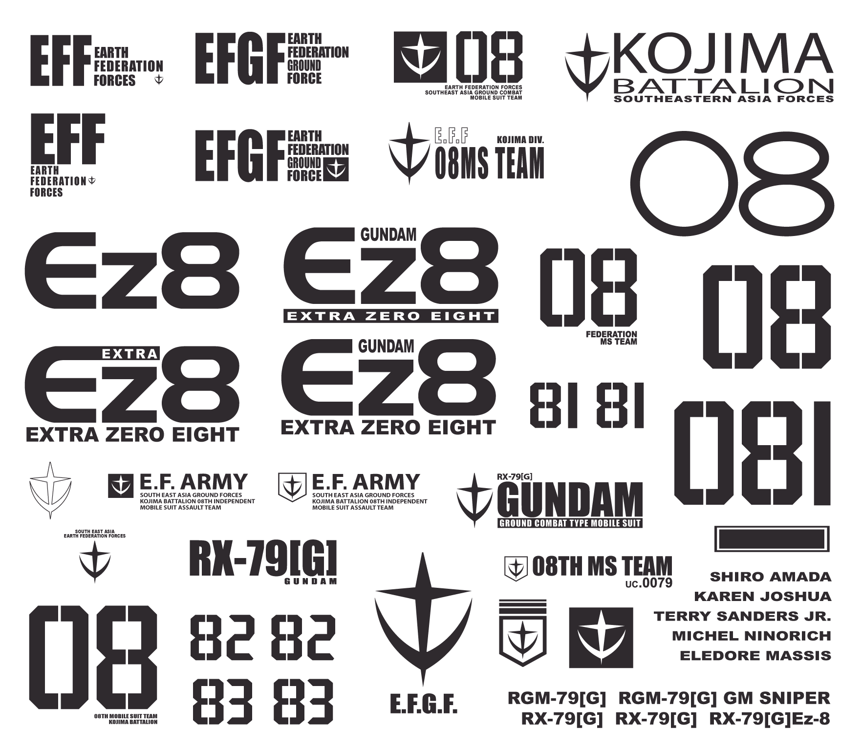 black and white library gundam vector typography #97337403