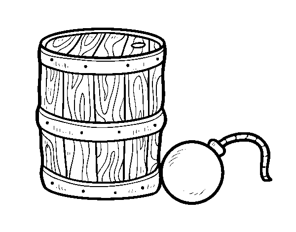 svg transparent stock Gunpowder and pirate bomb coloring page