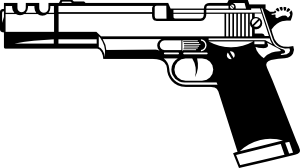 image black and white library Gun black and white. Guns clipart
