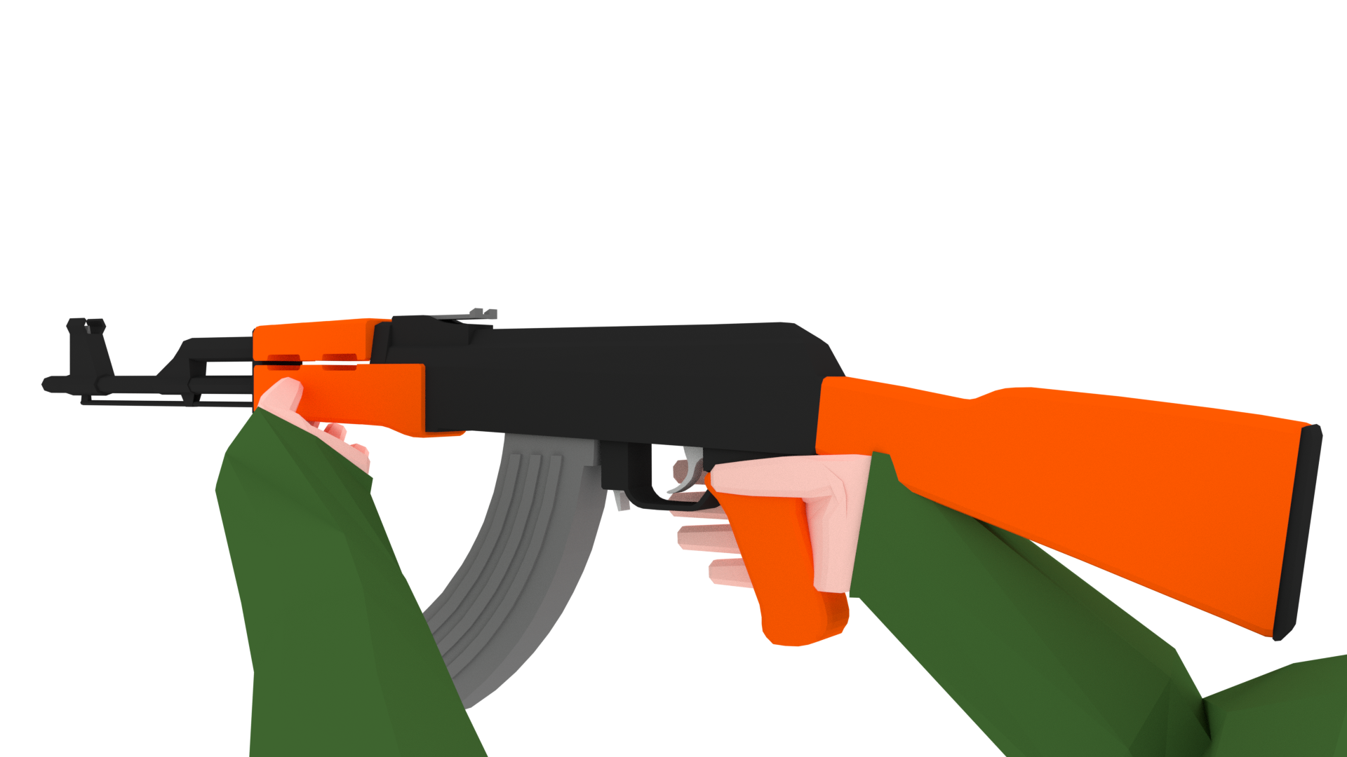 graphic library stock Low poly arms pack. Guns clipart fps
