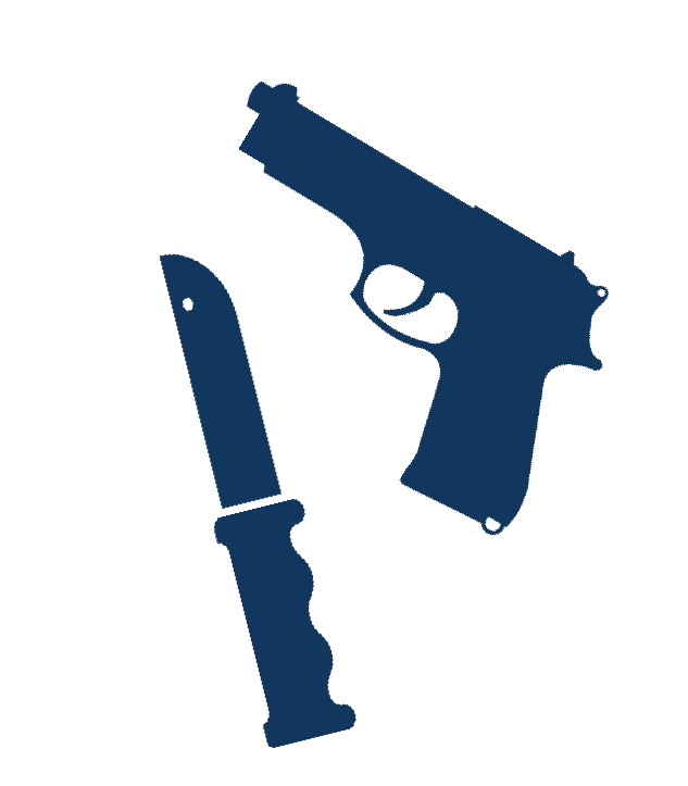 image black and white Guns clipart knife. Weapons on campus division