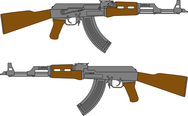 jpg library stock Army rifle clipart. Simple gun drawing at.