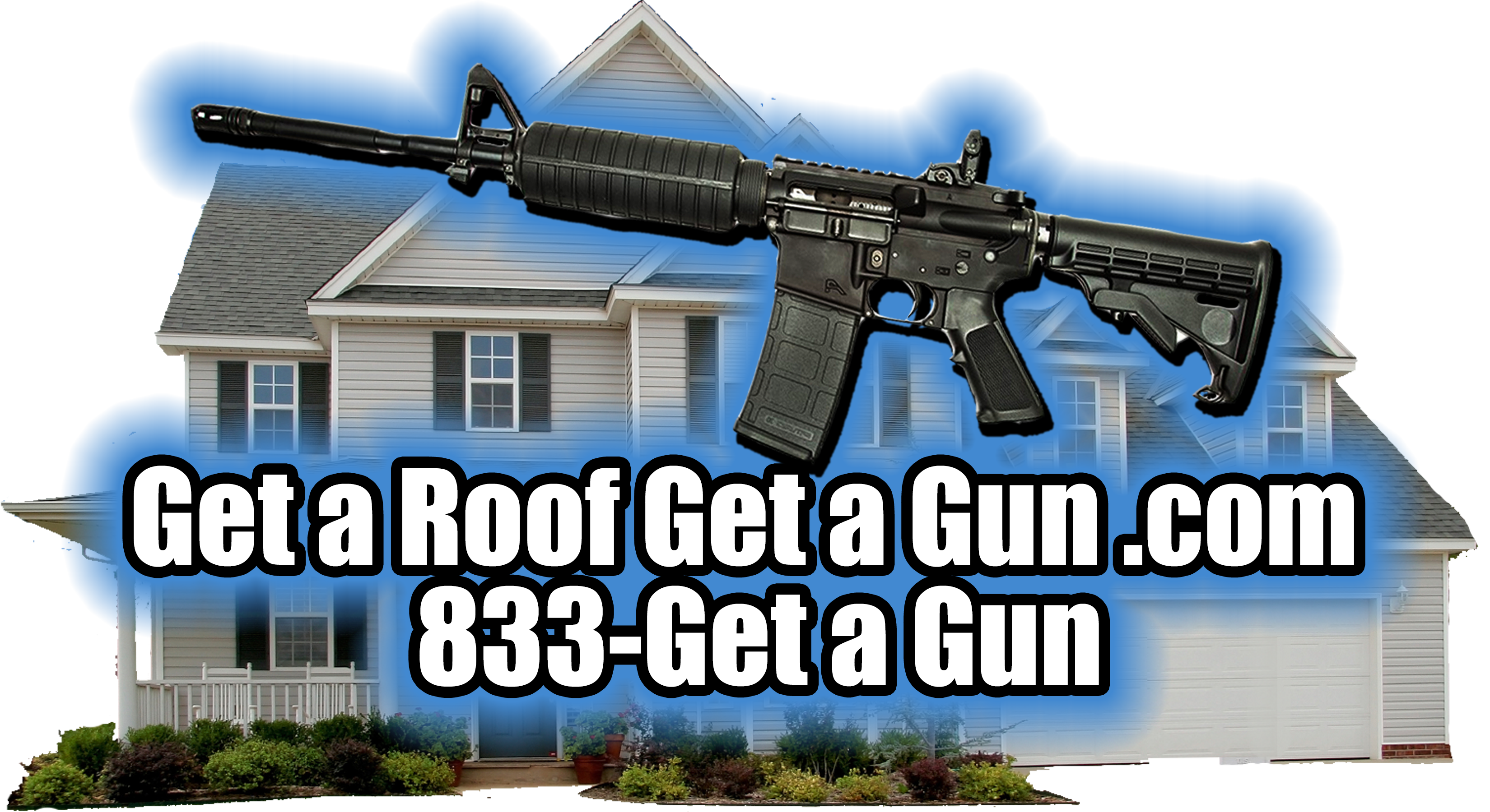clipart black and white stock Guns clipart roofing. Home page get a