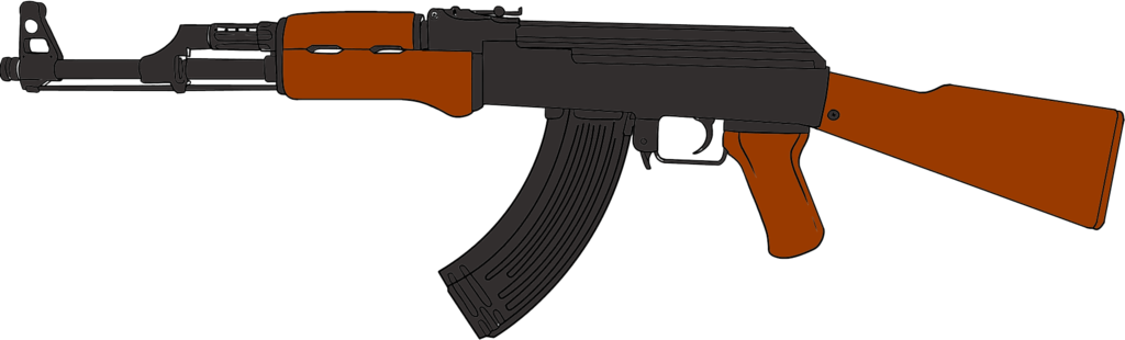 clip free library guns drawing ak 47 #97345673