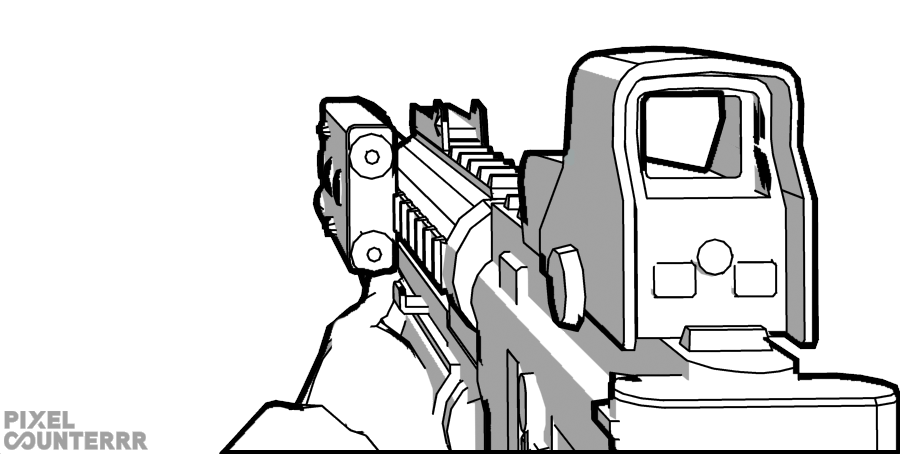 banner freeuse guns drawing person #97350963