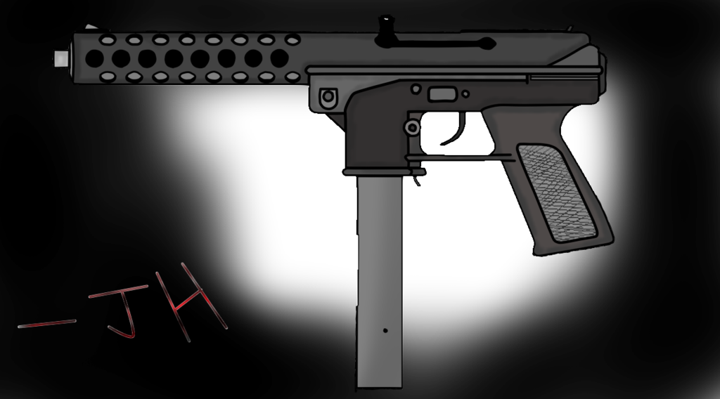 banner free guns drawing tec 9 #97349217