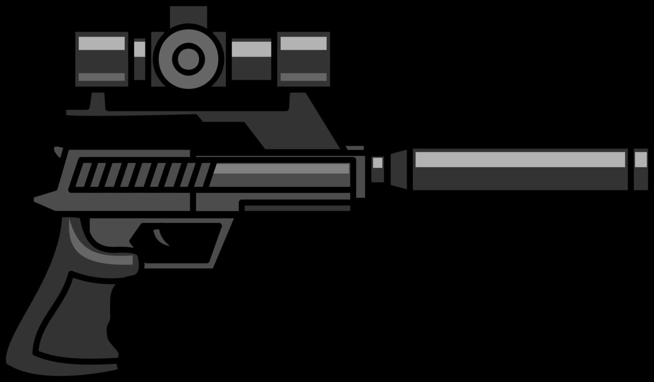 svg download Firearm Sniper rifle Pistol Gun Silencer free commercial clipart