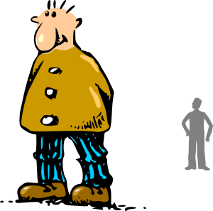 svg royalty free library Man clip art at. Guy clipart big person