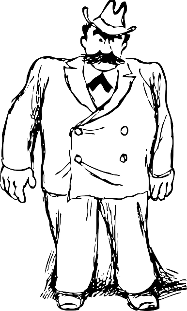 clip art library library Guy clipart big person. Black large outline man