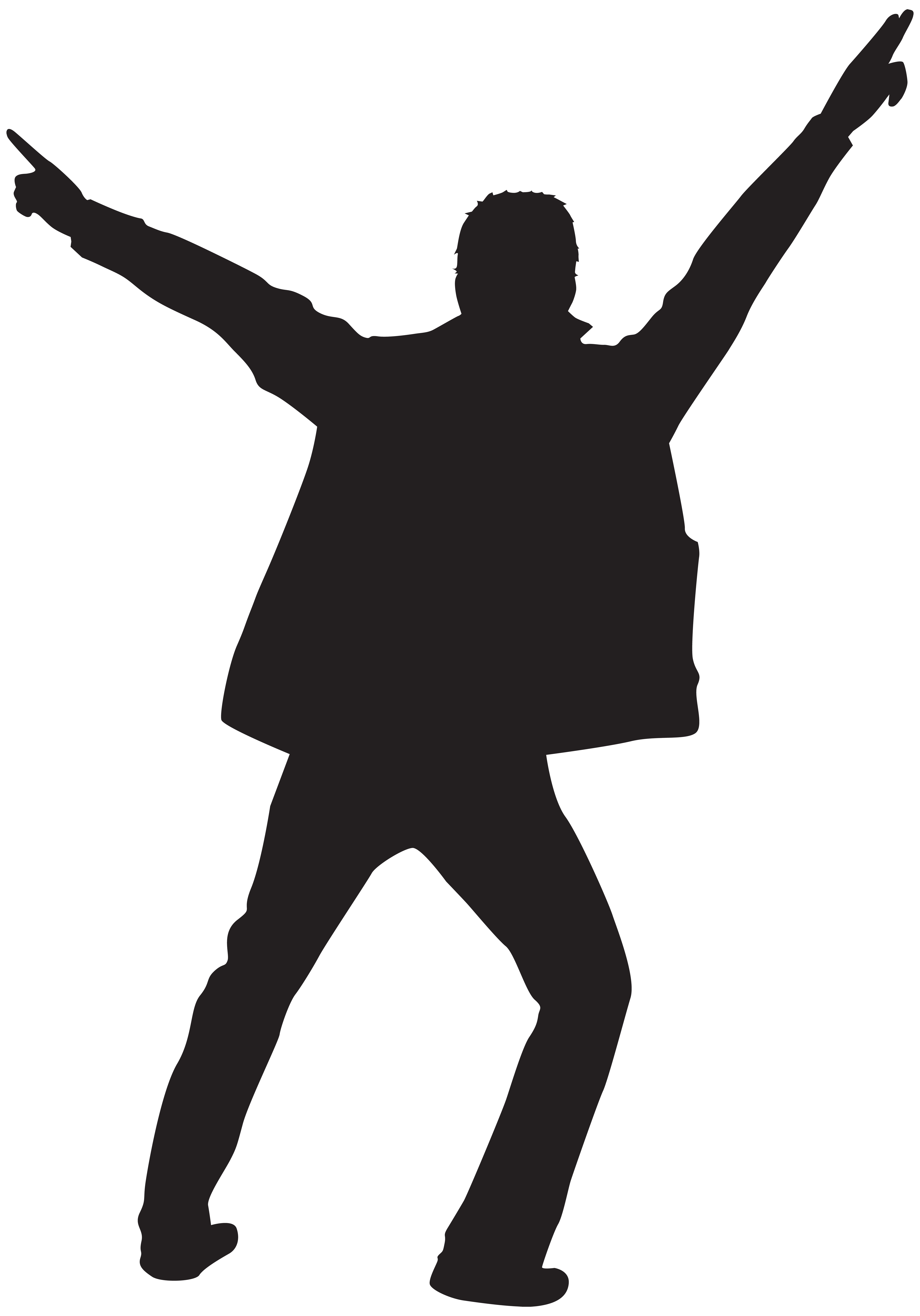 clipart library stock Guy clipart dancer. Dancing man silhouette at
