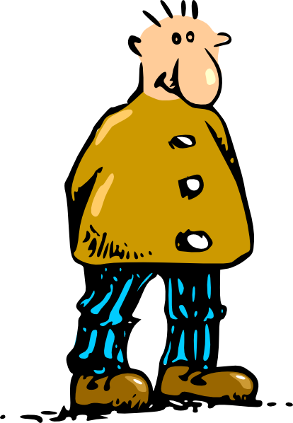 vector royalty free library Guy clipart man standing. Cartoon clip art at