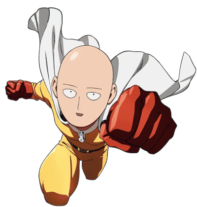 vector library library One Punch Man Clipart weeb