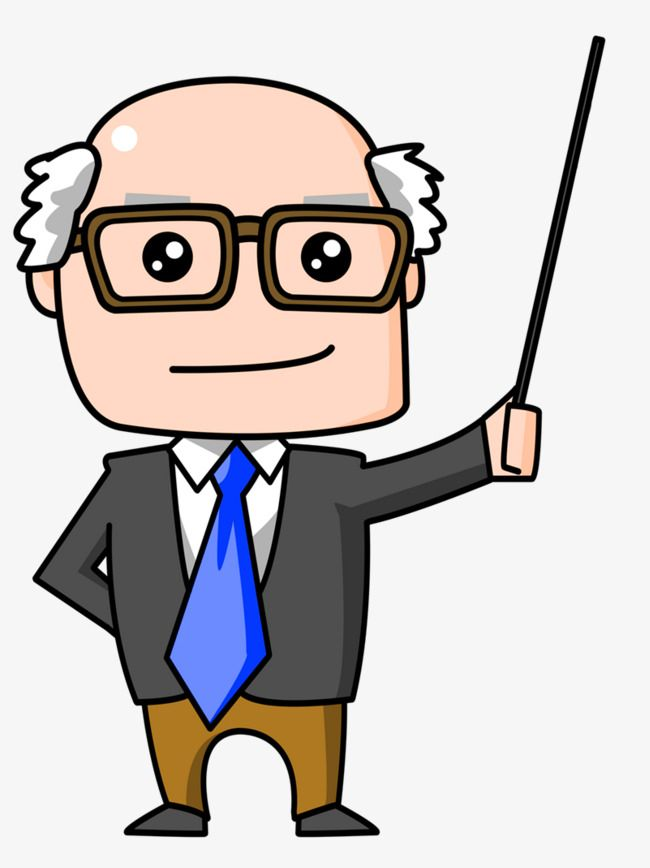 clipart royalty free stock Professor teaching clipart. Cartoon bald old man