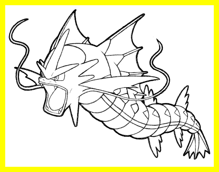 download Pokemon Gyarados Coloring Pages