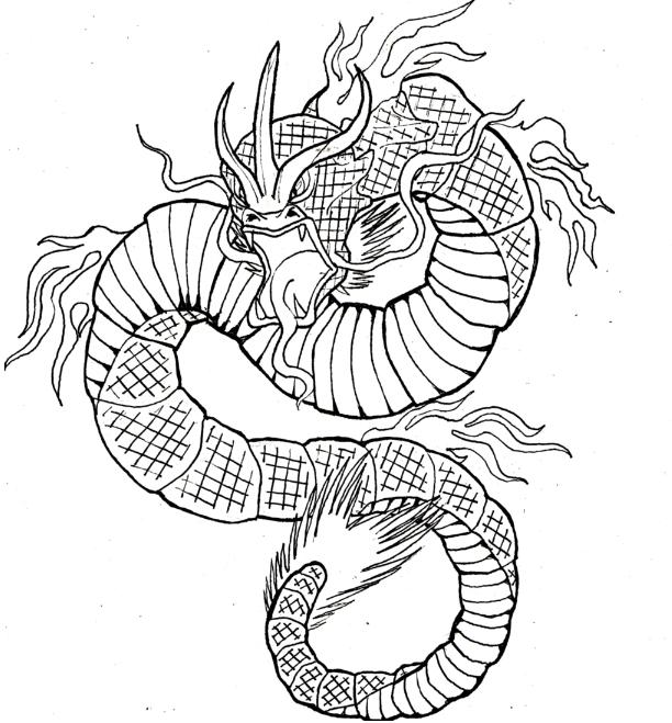 jpg transparent download gyarados drawing traditional #146360787