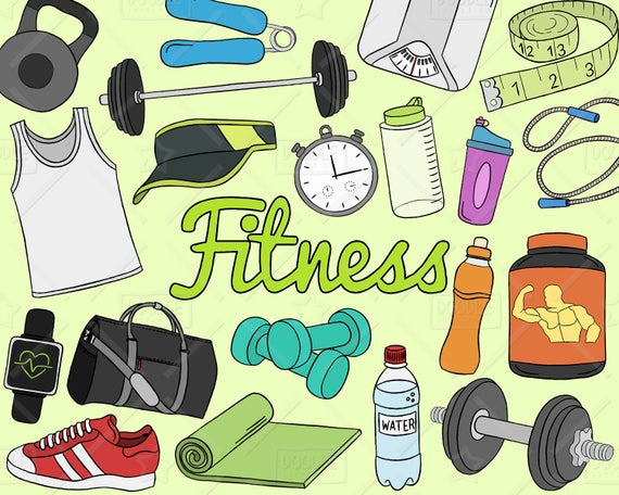 image free Gym clipart. Fitness vector pack workout