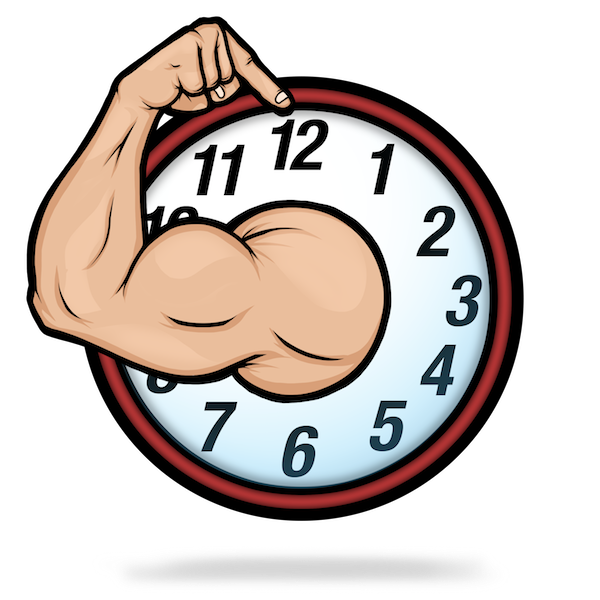 graphic royalty free stock Gym clipart gym time. O clock it s