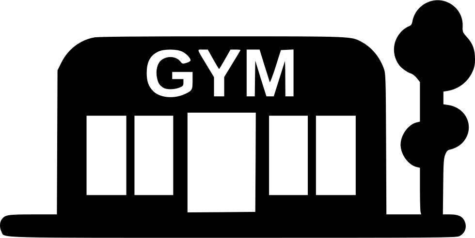 banner download Gym clipart office building. Sport training svg png