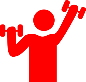 vector black and white stock Red Gym Clip Art