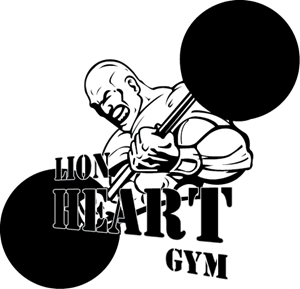 clipart Lion Heart Gym Logo Vector