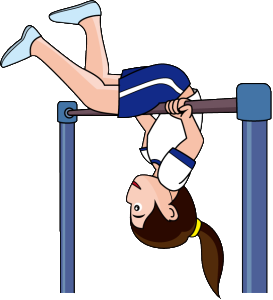 graphic royalty free Gymnast bar free on. Gymnastics clipart