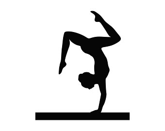 graphic free download Gymnastic etsy . Gymnastics clipart