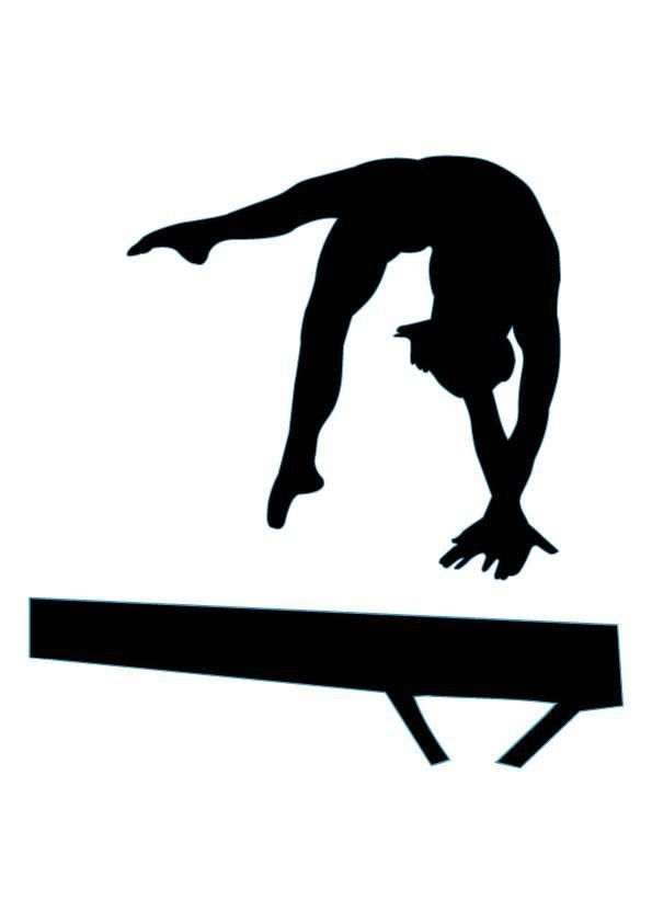 svg royalty free library Free pictures clipartix . Gymnastics clipart