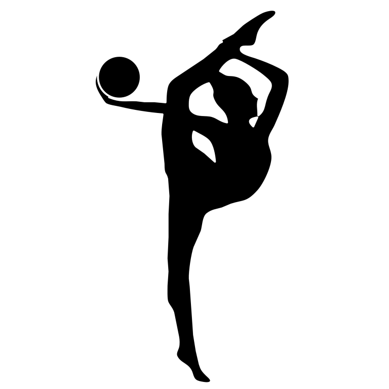 clip freeuse Rhythmic silhouette vault. Gymnastics clipart