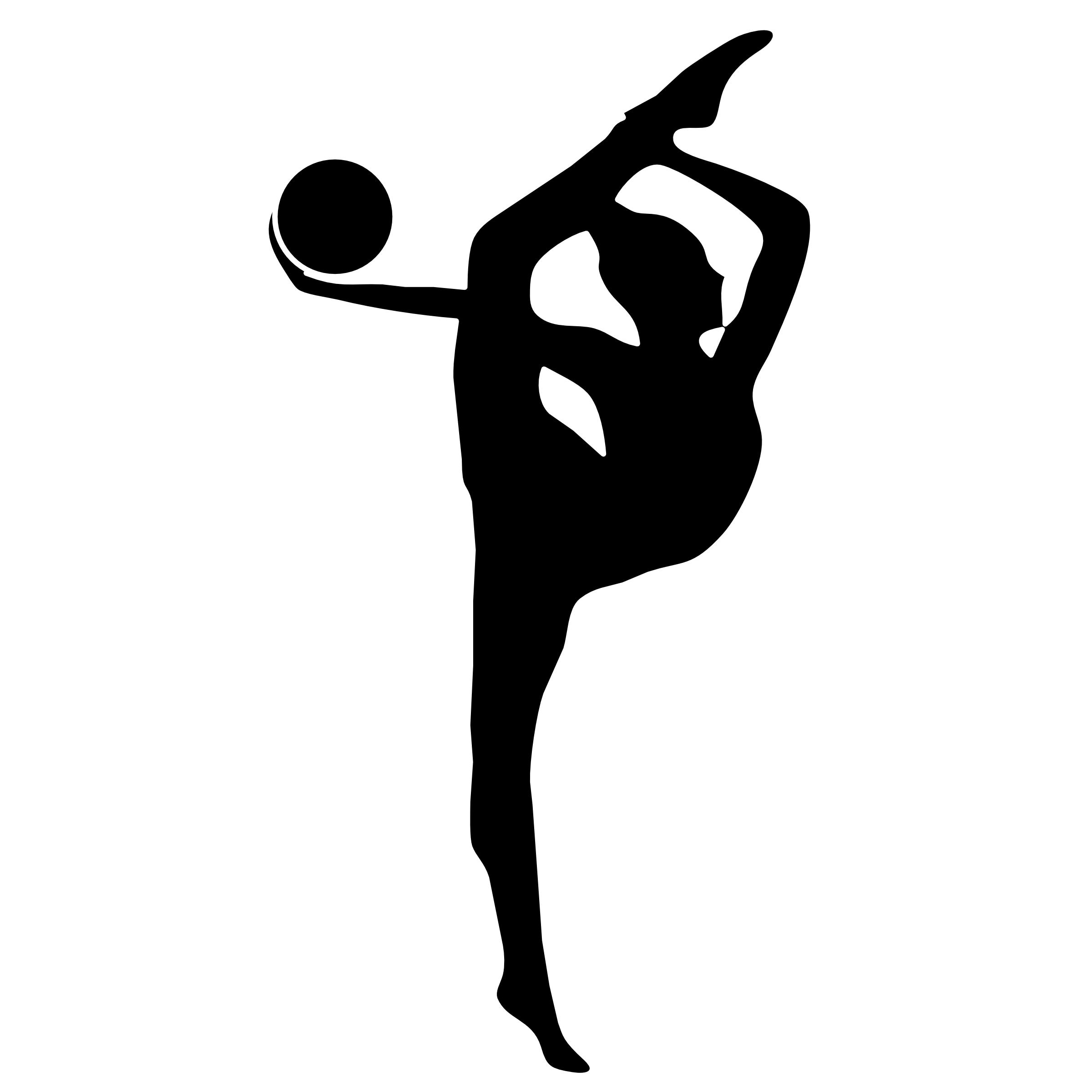 clip art stock gymnastics black and white clipart #59203294