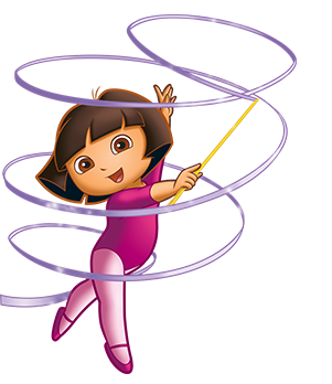 vector royalty free download Dora with ribbon wand. Gymnastics clipart gymnastics party