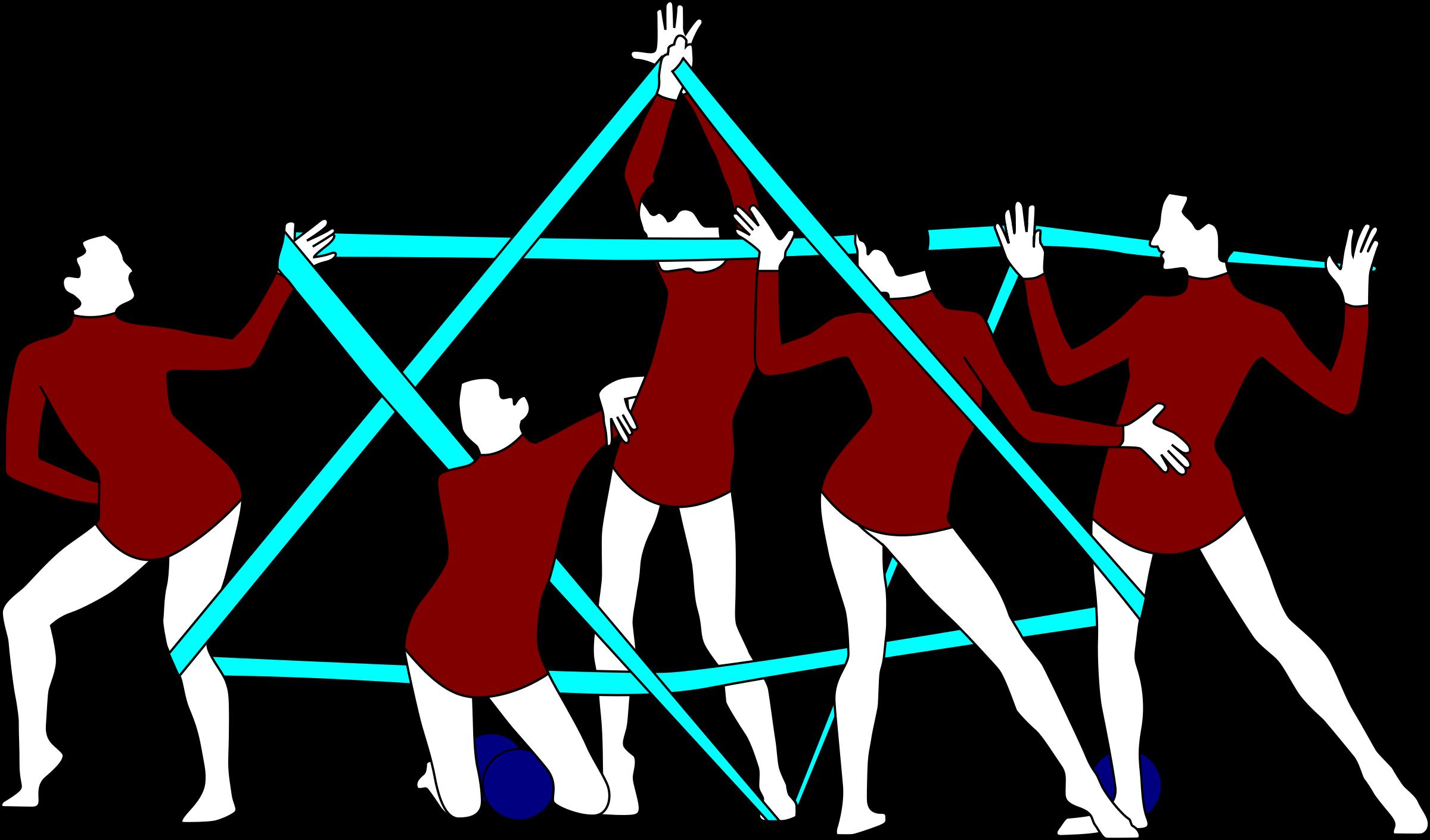 clip art download Gymnastics clipart vector. Rhythmic with ribbon star