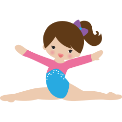 picture royalty free library Split free on dumielauxepices. Gymnastics clipart
