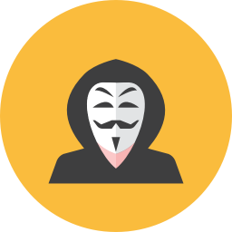 vector black and white stock Hacker Icon