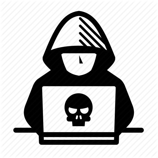 clip transparent Cyber Crime or threats glyph