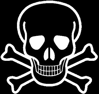 jpg transparent Bone transparent cross bones. Skull and crossbones emoji