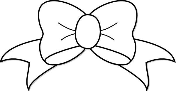 clip art royalty free download Hair bow clipart black and white. Clip art at clker