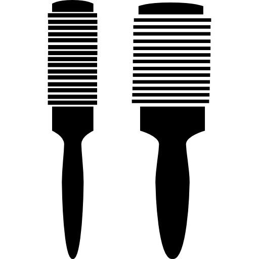 png free stock Hair brush clipart black and white. Silhouette at getdrawings com