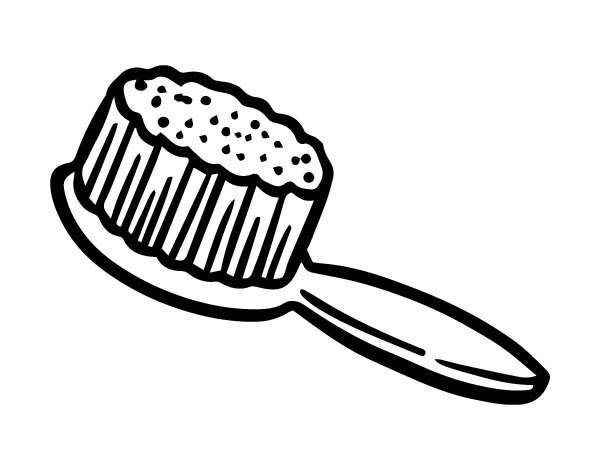 clipart transparent stock Hairbrush coloring page coloringcrew. Hair brush clipart black and white