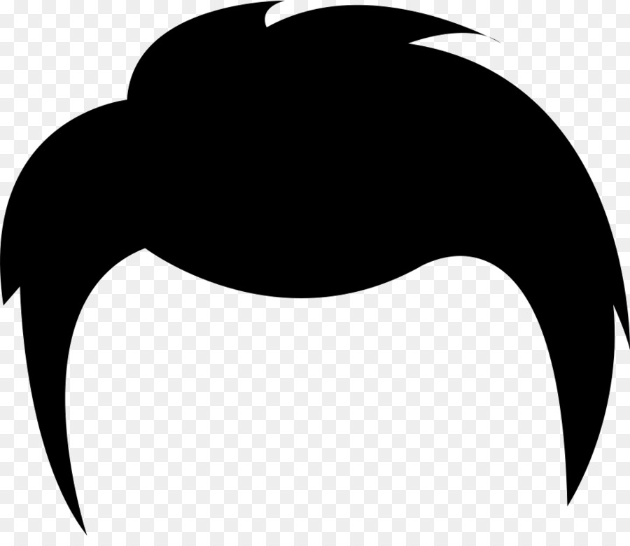 image royalty free library Hair clipart. Cartoon black silhouette transparent.